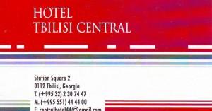 Tbilisi hotel wizytówka