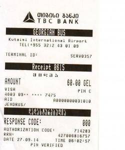 zapłata za Georgian Bus